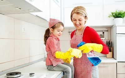 How often do you need to clean each area in your house?