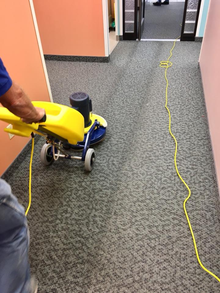 photo taken during a commercial carpet cleaning in Farmington, NM