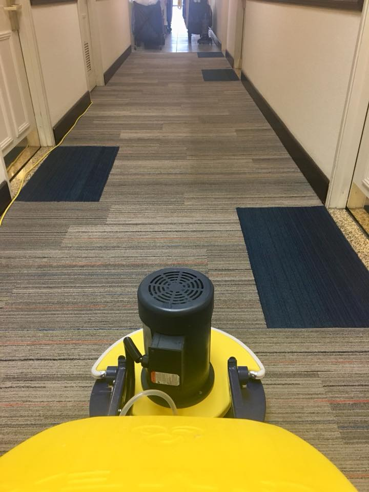 Photo taken during a commercial carpet cleaning in San Juan County, NM